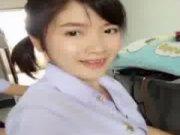 """คลิปน้อง """"แอมมี่"""" ดาวโรงเรียนชื่อดังโชว์ของดี Thai school มีเย็ดแถมตอนท้าย"""